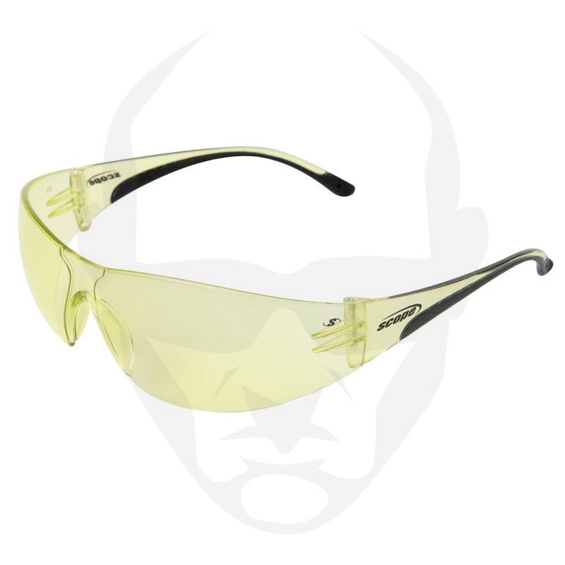 Scope Boxa Phat Safety Glasses w/ Amber Lens
