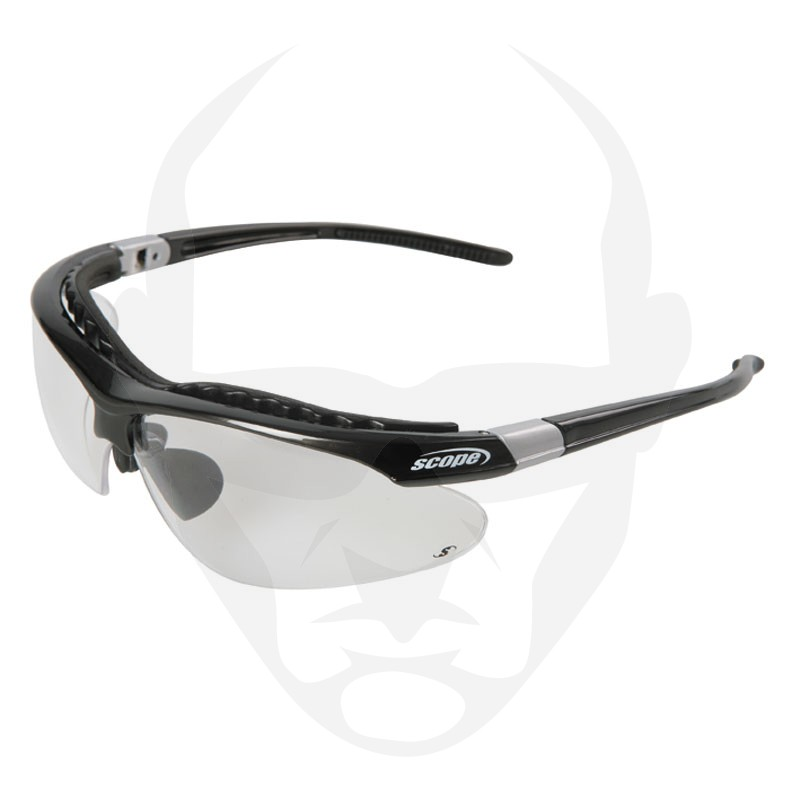 Scope Raider Safety Glasses w/ Fitted Brow Bar and Clear Lens