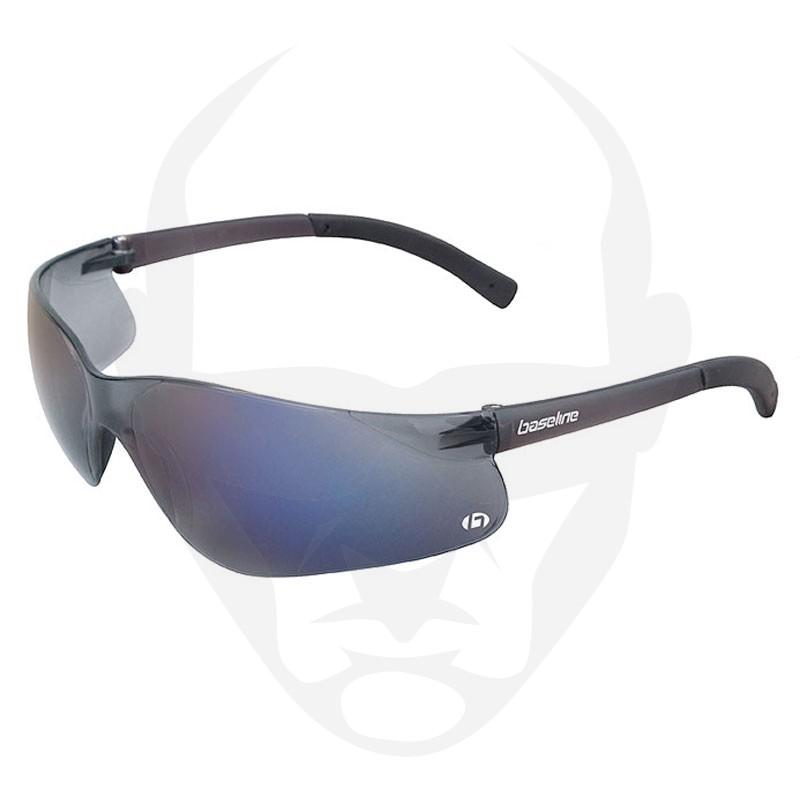 Baseline Tomcat Safety Glasses by Scope Optics w/ Blue Mirror lens