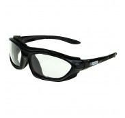 On Site Safety COMBAT Safety Positive Seal Glasses Black Frame Clear Antifog HC Lens