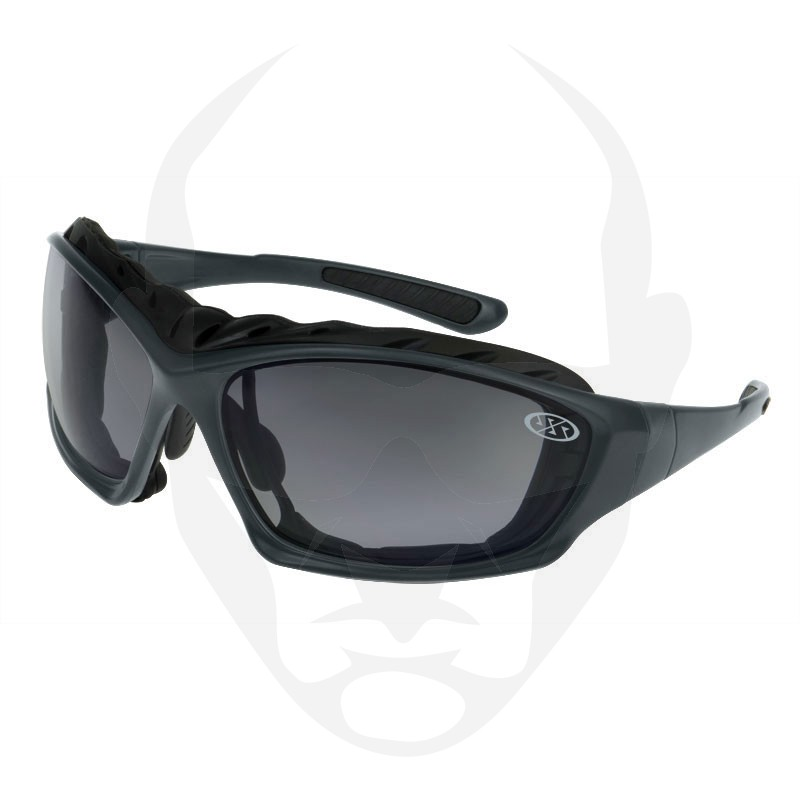 Super Safety TRIDENT Safety Glasses - Gun Metal Frame Smoke Lens