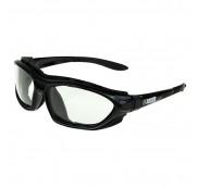 On Site Safety COMBAT Safety Positive Seal Glasses Black Frame Clear Antifog HC Lens