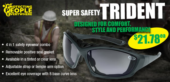 Super Safety Trident Safety Glasses